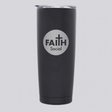 Faith Round Logo 20 OZ Stainless Tumbler