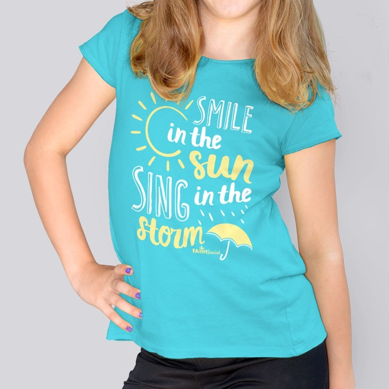 Yth Girls Smile in the Sun Short Sleeve Tee