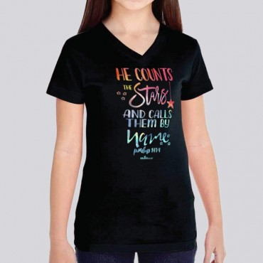 Yth Girls He Counts the Stars Short Sleeve Tee