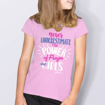 Yth Girls Power of Prayer Short Sleeve Tee
