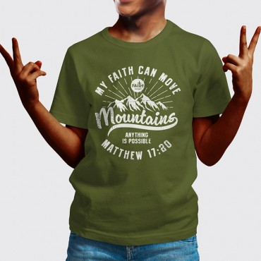 Youth Boys Faith Can Move Mountains Short Sleeve Tees