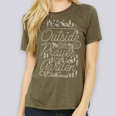 Ladies Prayer Garden Relaxed Fit Short Sleeve Tee