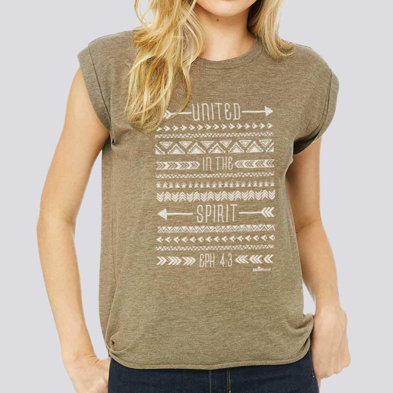 Ladies United in Spirit Relaxed Fit Short Sleeve Tee