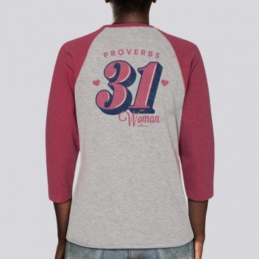 Ladies Proverbs 31 Raglan Tee