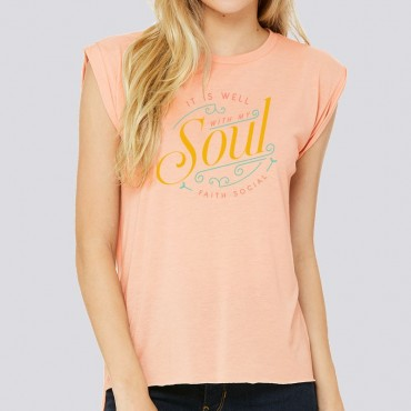 Ladies It Is Well With My Soul Relaxed Fit Short Sleeve Tee