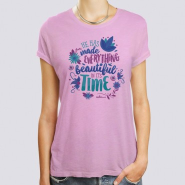 Scripture Ladies Short Sleeve T-Shirt - Everything Is Beautiful