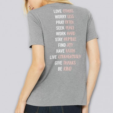 Ladies Live By List Relaxed Fit Short Sleeve Tee