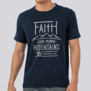 Adult Faith Moves Mountains Short Sleeve Tee