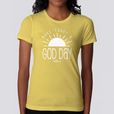 Ladies God Day V-Short Sleeve Tee