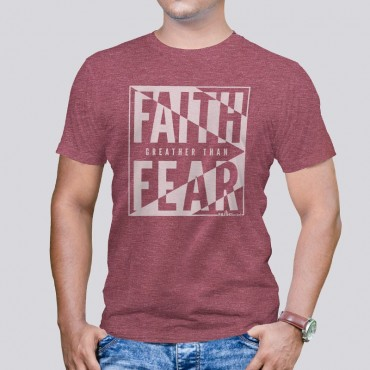 Adult Faith Over Fear Short Sleeve Tee