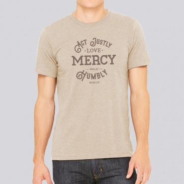 Adult Act Justly, Love Mercy Short Sleeve Tee