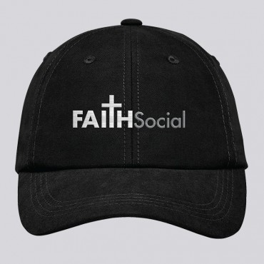 Christian Ball Cap with Faith Social Logo