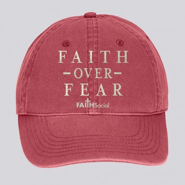 Faith Over Fear Dyed Canvas Cap
