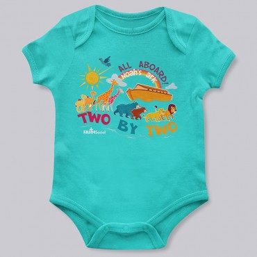 Infant All Aboard Noah's Ark Bodysuit