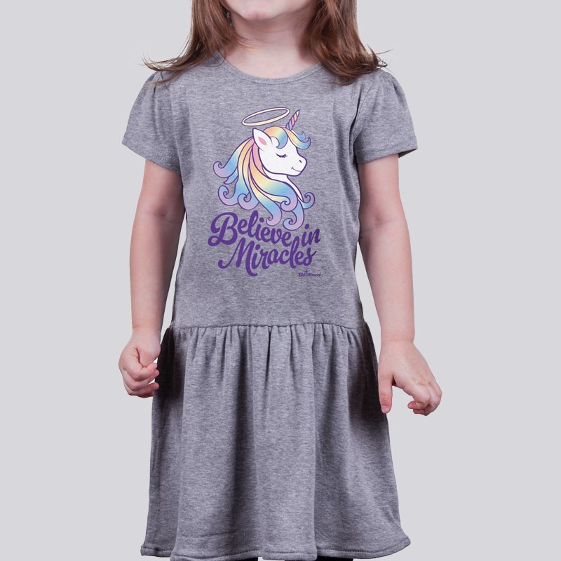 Toddler Christian Girl Dress: Believe in Miracles