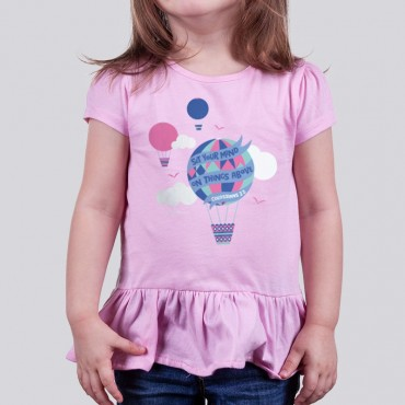 Christian Girl Ruffle T-Shirt For Toddler: Things Above