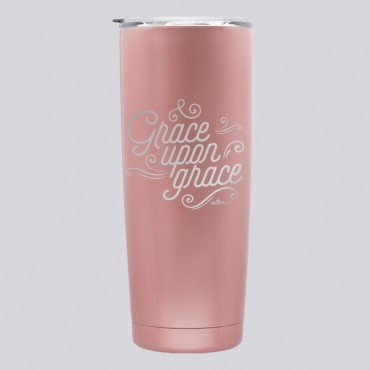 Stainless Inspirational Quote Tumbler: Grace Upon Grace