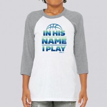 Youth Boys Play Hard Pray Hard Raglan Tee