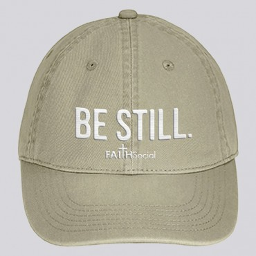 Be Still Dyed Canvas Cap