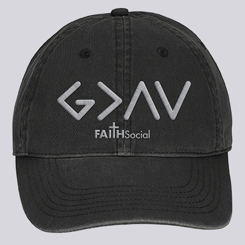 God is Greater Dyed Canvas Cap