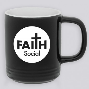 Christian Coffee Mug - Faith Social Round Logo