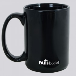 Unique Ceramic Coffee Mug with Christian Cross