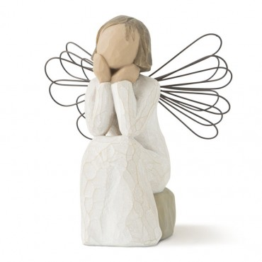 Angel of Caring Figurine - small faceless angel figurine