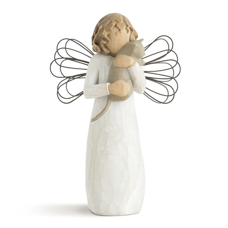 Angel of Affection Figurine - Angel With Cat