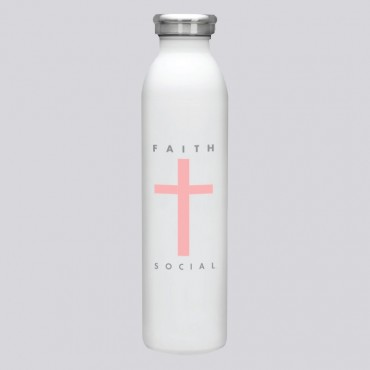 Faith Cross List Pink 20 OZ Stainless Bottle