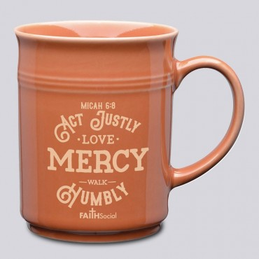 Bible Verse Mug: Act justly; Love; Mercy; Walk Humbly; Large Ceramic Coffee Mug