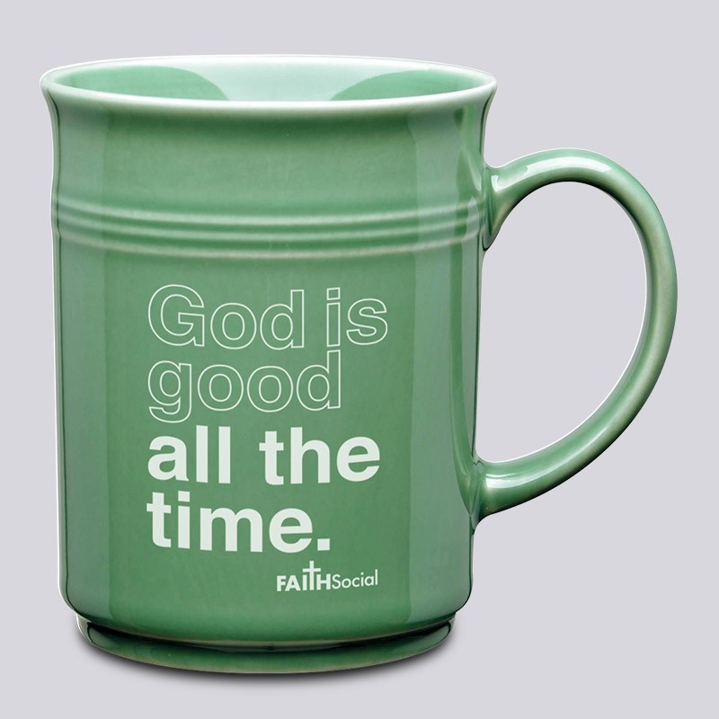 God is Good All the Time: Coffee Mug with Christian Quote. The Perfect Gift Idea.
