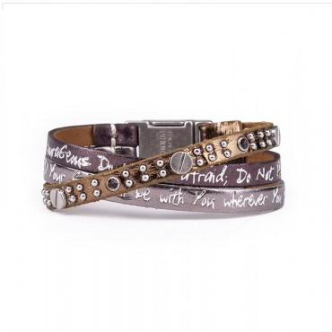 Good Works Joshua 1:9 Trio Scripture Bracelet