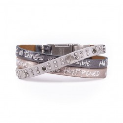 Good Works Matthew 19:26 Trio Scripture Bracelet